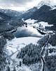 Icy Drone Shot (Fabian Fortmann) Tags: bavaria bayern germany deutschland hintersee alps mountain alpen berge lake see sunset drone dji mavic