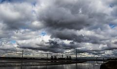 Heavy Skies (The Crewe Chronicler) Tags: canon canon7dmarkii runcorn newruncornbridge bridge clouds cloud river mersey rivermersey cheshire