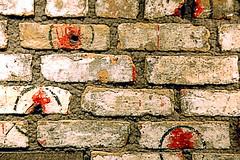 St. Valentine's Massacre Wall (EmperorNorton47) Tags: lasvegas nevada photo digital winter mobmuseum chicago stvalentinesmassacre historic history bulletholes bricks alcapone gangsters mob