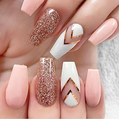 Nail art (lucry.4ever) Tags: nails manicure nailart elegant yes excellent art white littlegirl beautiful prettygirl pretty gold blondegirl trendy pink nail