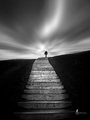 Stairway to heaven (pierrelouis.boniface) Tags: dark pasdecalais nordpasdecalais longexposure pauselongue mountains france nb noiretblanc wb