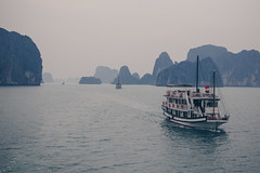 HalongBayDay1-1 (dogslobber) Tags: ha long bay vietnam vietnamese south east asia water boat mist misty fog foggy overcast cruise karst formations geology geological