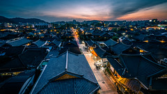 Sunset in Jeonju - South Korea - Travel photography (Giuseppe Milo (www.pixael.com)) Tags: photo contrast landscape sunset travel jeonju photography southkorea sky architecture city geotagged clouds jeollabukdo kr onsale