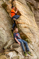 The Climb (kschmitz2) Tags: rock canoneos5dmk3 climb kyleschmitz state zackschmitz carter caves park kentucky cliff ef1635mmf28lii olivehill unitedstates us