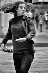 Dancing (Nikonsnapper) Tags: olympus omd em1 zuiko 75mm bw street dancing motion cardiff candid unposed uncool uncool2 uncool3 cool uncool4 uncool5 uncool6 uncool7