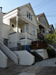 """San Francisco, CA, Noe Valley, Victorian """"Big"""" House in Front of My Son's Little Rental House (Mary Warren 13.5+ Million Views) Tags: sanfranciscoca noevalley architecture building house residence victorian"""