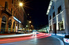 Midnight Fun (Agha Asif Ali) Tags: night road building intersection sky lights car lighttrails munich germany bavaria red white yellow asphalt curve windows roadside green glass apotheke poles traffic holiday photography tourism nikon d7200 tokina 1116mm longexposure aghaasifali pakistan cold winter manuel