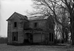 Standing empty (Nickademus42) Tags: film photography podcast project 35mm black white kodak tmax 400 nikon f4 house kentucky abandoned empty derelict