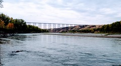Old Man River Lethbridge (Mr. Happy Face - Peace :)) Tags: cans2s art2018 scenery landscape nature lethbridge alberta canada albertabound