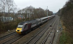 43285 approaches Chesterfield with the 1V54 Dundee to Plymouth, 15th March 2018. (Dave Wragg) Tags: 43285 class43 hst 1v54 chesterfield xc crosscountry railway