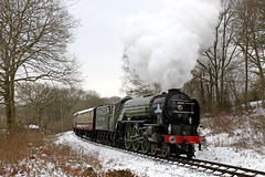 60163 Tornado - Highley (Andrew Edkins) Tags: 60163 tornado peppercorn lner highleybank preservedrailway steamtrain pacific 462 severnvalleyrailway travel trip passenger geotagged canon march 2018 spring steamgala light shropshire england uksteam snow