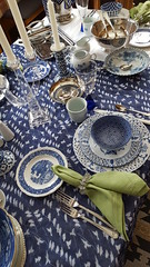 Blue on Blue 4 (Mamluke) Tags: blueonblue blue tabletop table flatware glassware dishes china mix mixed tablelinen linen mamluke home blues mixes mixture crystal patterns pattern patterned napkin fork knife spoon cup plate plates glass bowl candleholder
