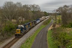 CSX Q581 at North Kingston (travisnewman100) Tags: csx train railroad freight manifest emd sd503 sd403 wa kingston georgia atlanta division subdivision q581 rural rr locomotive