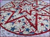 827_Patriotic Stars on Wood Table Topper Red_d (QuiltinWaYnE) Tags: quilted handmade kitchentabledecor diningtabledecor coffeetabledecor tablemat tabletopper tabledecor quiltedtabletopper quiltsy etsyseller etsyquilter etsy etsyshop etsyhandmade qqqetsy quiltedtabledecor tablelinen handmadequilt tablequilt americana patriotic