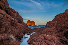 Islands (Karol ...) Tags: islands seascape ochre red sunset reflections textures rocks