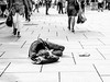 Apathetic (A. Yousuf Kurniawan) Tags: apathetic nap people sleeping walkway walking blackandwhite monochrome decisivemoment streetphotography streetlife urbanlife vagrant social