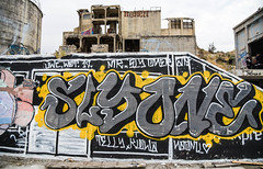 Graffiti (maytag97) Tags: maytag97 nikon d750 lime oregon building facility cement plant abandoned empty desolate rundown factory old industrial urban vintage architecture grunge wall construction structure dirty concrete decay ruin ruins destruction dilapidated industry aged