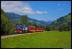 Zillertalbahn D15, Mayrhofen 09-08-2017 (Henk Zwoferink) Tags: mayrhofen tirol oostenrijk at d15 gmeinder henk zwoferink ziller zillertalbahb zb zillertal smalspoor