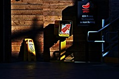 Caution ... Vegas  !!!!!!!! (imagejoe) Tags: vegas nevada street strip color photography photos shadows reflections tamron people nikon