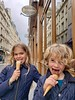 The Kids Enjoying Their First Ice Cream In Paris At Berthillon (Joe Shlabotnik) Tags: 2018 paris galaxys9 violet france march2018 cameraphone everett berthillon faved