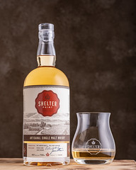 Shelter Point Single Malt (johnarobb) Tags: british columbiavancouverisland singlemalt whisky whiskey alchohol shelterpointdistillery campbellriver product bottle glass studio elinchrom