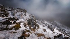 Above the clouds...Snowdon summit (Einir Wyn Leigh) Tags: landscape snow mountain snowdon cloud light rural rocks walking summit wales