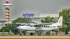 Siam General Aviation Company plane on Don Mueang Airport, Bangkok (Gösta Knochenhauer) Tags: 2018 january bangkok thailand south east asia panasonic lumix fz1000 dmcfz1000 thai childrensday royal air force aircraft plane museum p9130514nik p9130514 nik