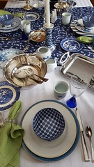 Blue on Blue 3 (Mamluke) Tags: blueonblue blue tabletop table flatware glassware dishes china mix mixed tablelinen linen mamluke home blues mixes mixture crystal patterns pattern patterned napkin fork knife spoon cup plate plates glass bowl