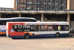 SW 28694 @ Kilmarnock bus station (ianjpoole) Tags: stagecoach western scania k230ub alexander dennis enviro 300 yn64ahg 28694 working route 4 glasgow buchanan street bus station ayr