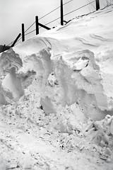 Snow Drift (Missy Jussy) Tags: beastfromtheeast snow winter britishweather lancashire lane fence drifting canon canon5dmarkll canon5d canoneos5dmarkii 50mm ef50mmf18ll ef50mm canon50mm fantastic50mm mono monochrome bw blackwhite blackandwhite northwest rochdale newhey england