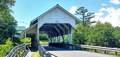 Miller's Run Covered Bridge- Lyndon VT (1) (kevystew) Tags: vermont caledoniacounty lyndon us5 bridge coveredbridge nationalregister nationalregisterofhistoricplaces