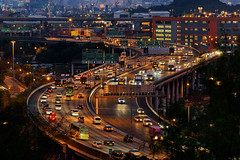 (Sunrider007) Tags: sony a7r3 a7riii 100400 road freeway overpass motorway traffic sunset dusk twilight evening urban city metropolis hongkong kowloon laiking landscape cityscape exposure transport car cars trucks truck