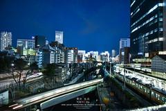 Tokyo Life (Pop_narute) Tags: tokyo japan city cityscape town train railway station life night