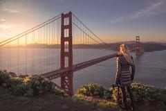 Sunrise at the Golden Gate Bridge (ks_pics) Tags: sunrise morninglight selfportrait landscape city cityskyline sanfrancisco goldengatebridge water