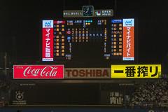 Scoreboard - Carp vs Swallows - Opening Day 2018 (BlueVoter - thanks for 2M views) Tags: baseball japanesebaseball swallows hiroshimacarp scoreboard