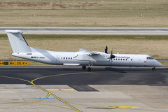 D-ABQT - 2016 build Bombardier Dash 8-402, taxiing to gate on arrival at Dusseldorf (egcc) Tags: 4541 bombardier dabqt dh8d dhc dus dash8 dash8402 dehavillandcanada dusseldorf eddl ew ewg eurowings lightroom rheinruhr