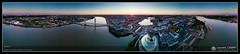 Panorama sur la Cité du Vin, le Pont Chaban Delmas et le Pont d'Aquitaine de Bordeaux (Laurent CABRIT) Tags: drone panoramique techniquephoto panocylindrique bordeaux nouvelleaquitaine france fra