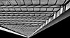 glass roof (heinzkren) Tags: schwarzweis blackandwhite bw sw monochrome panasonic lumix architektur architecture glasdach lines shadow light licht schatten geometry pattern gebäude building tower twintower wienerberg wien vienna indoor