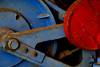Belgium, Beringen (ClaDae) Tags: machines industry metal blue rouge colors belgium beringen