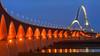 Sternenbrücke (jwfoto1973) Tags: oversteek nimwegen nijmegen nederland netherland niederlande blauestunde bluehour brücke bridge sterne landschaft landscape langzeitbelichtung longexposure light lights johannesweyers nikon
