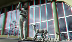 Rivierahal Blijdorp Zoo Rotterdam 3D (wim hoppenbrouwers) Tags: blijdorp zoo rotterdam 3d anaglyph stereo redcyan rivierahal