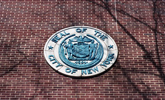 PS 307 (neilsonabeel) Tags: nikonfe2 nikon film analogue brooklyn newyorkcity seal wall newyorkstate publicschool school