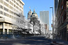 """""""Looking South on Calhoun from Columbia: Circa 1900 & 2017"""" (D A Baker) Tags: calhoun columbia intersection street people pedestrian vintage old new photograph blend rephotography now then dear looking past downtown fort wayne ft indiana acpl allen county public library danielbaker"""