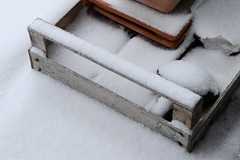 covered ... (rainbowcave) Tags: snow box balcony schnee kiste balkon winter frühling