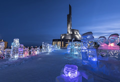 Colors of Lapland (Sizun Eye) Tags: north ice sculptures northernlightscathedral cathedral church kirke nordlyskatedralen alta laponie finnemark norway europe norvège lapland sizuneye bluehour le longexposure poselongue nikond750 d750 nikon nikkor1424mmf28 nikkor 1424mm