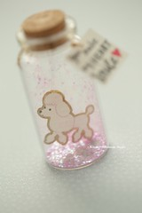 You make my heart smile,Tiny message in a bottle,Miniatures,Personalised Gift,Love card,Valentine Card,Gift for her/him,Girlfriend gift, birthday card, message card and funny card ideas (charles fukuyama) Tags: poodle toypoodle dog puppy pet handmadecard custom paper art glitter pink illustration anniversarycard homedecor deskdecor lovecard unique partygift greetingscard holidaycard kikuike