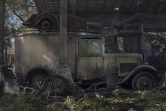 Barn Find Van (andre govia.) Tags: andregovia abandoned vintage van decay decayed derelict decaying decayedbuildings transport old rust dust junk trespass ford barn find ue urbanexplorers side car