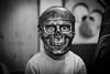 Yann (pilou.basco) Tags: garcon deguisement masque peur monstre tete de morte skullhead noiretblanc blackandwhite bw nb monochrome canon eos 6d portrait face