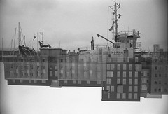 (von8itchfisk) Tags: doubleexposure ishootfilm filmisnotdead film analog analogphotography blackandwhite monochrome fomapan 35mm ship architecture selfdeveloped olympus om10 ipswich suffolk eastanglia incameraeffect noedit