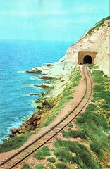 Haifa, Beirut & Tripoli Railway - Rosh Hanikra - the railway line to Lebanon (HISTORICAL RAILWAY IMAGES) Tags: hbt haifa beirut tripoli railway wwii lebanon palestine israel train ראשהנקרה רכבת
